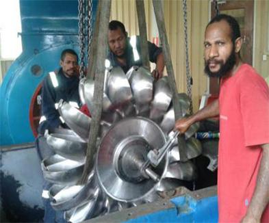 巴布亚新几内亚冲击式机组改造